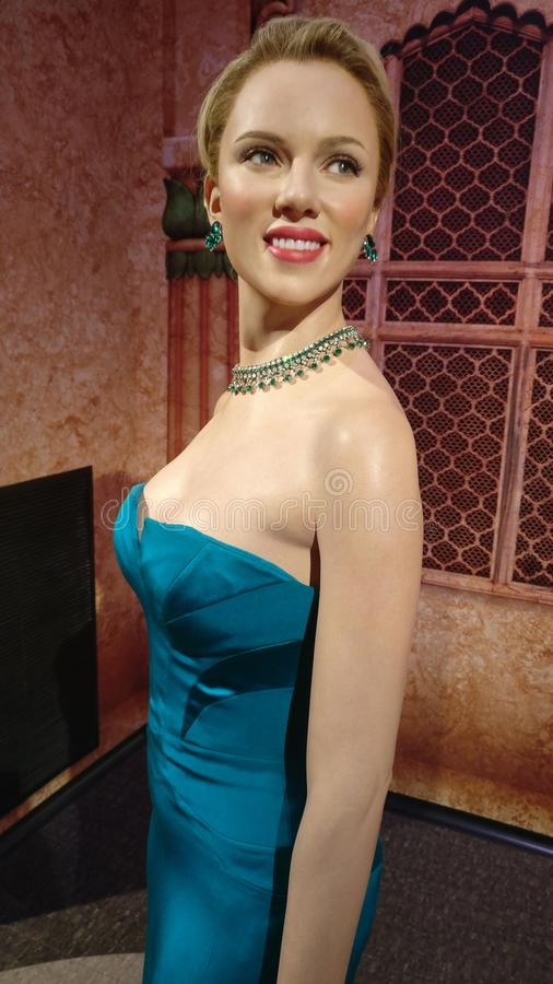 Scarlett Johansson bij Mevrouw Tussauds royalty-vrije stock afbeelding