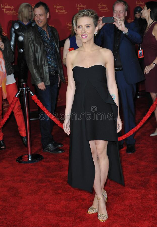 Scarlett Johansson. LOS ANGELES, CA - APRIL 13, 2015: Scarlett Johansson at the world premiere of her movie \'Avengers: Age of Ultron\' at the Dolby Theatre royalty free stock photo
