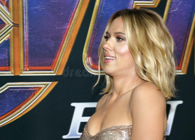 Scarlett Johansson. At the World premiere of `Avengers: Endgame` held at the LA Convention Center in Los Angeles, USA on April 22, 2019 royalty free stock photo
