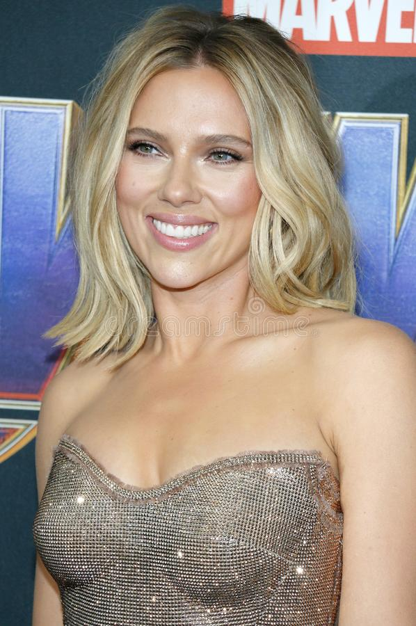 Scarlett Johansson. At the World premiere of `Avengers: Endgame` held at the LA Convention Center in Los Angeles, USA on April 22, 2019 stock photo