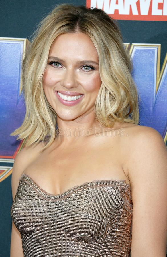 Scarlett Johansson. At the World premiere of `Avengers: Endgame` held at the LA Convention Center in Los Angeles, USA on April 22, 2019 stock photography