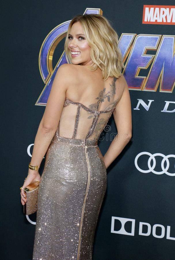 Scarlett Johansson. At the World premiere of `Avengers: Endgame` held at the LA Convention Center in Los Angeles, USA on April 22, 2019 royalty free stock photography