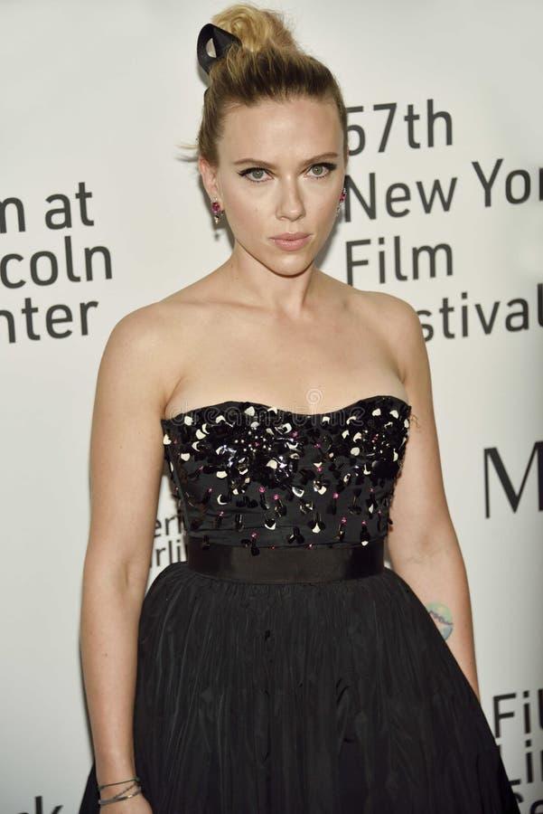 Scarlett Johansson woont de 57ste jaarlijkse première van het New York Film Festival bij voor 'Marriage Story' royalty-vrije stock fotografie