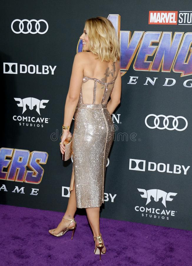 Scarlett Johansson. At the World premiere of `Avengers: Endgame` held at the LA Convention Center in Los Angeles, USA on April 22, 2019 royalty free stock image