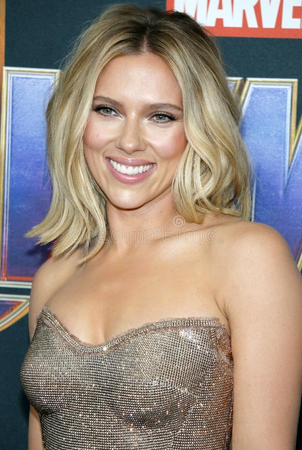 Scarlett Johansson. At the World premiere of `Avengers: Endgame` held at the LA Convention Center in Los Angeles, USA on April 22, 2019 royalty free stock photos