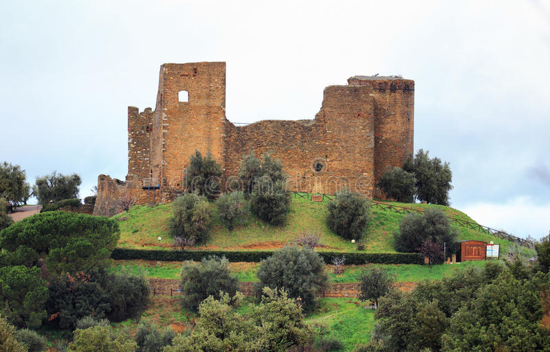 Scarlino Schloss stockbild