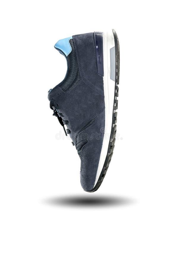 Scarpa da corsa blu immagini stock