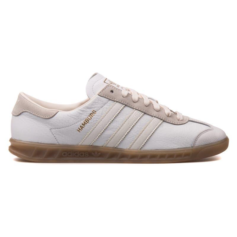 Scarpa da tennis bianca di Adidas Amburgo fotografia stock