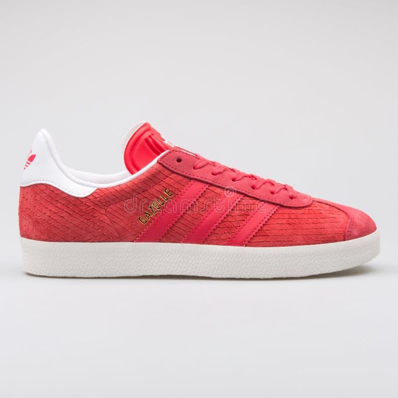 Scarpa da tennis rossa della gazzella di Adidas fotografia stock