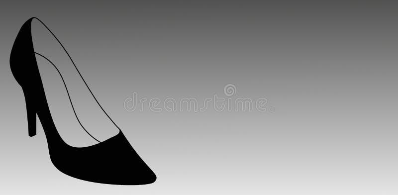 Scarpa della donna Stiletto nero illustrazione vettoriale