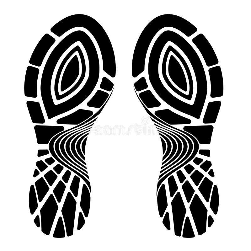 Scarpa di sport di orma isolata su un fondo bianco illustrazione di stock