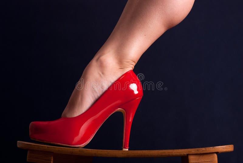 Scarpa rossa fotografia stock libera da diritti