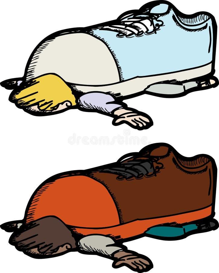 Download Scarpa sulla persona illustrazione vettoriale. Illustrazione di difficile - 30826315