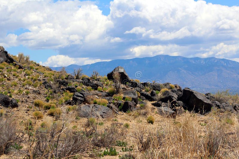 Scarpata della roccia vulcanica fotografia stock