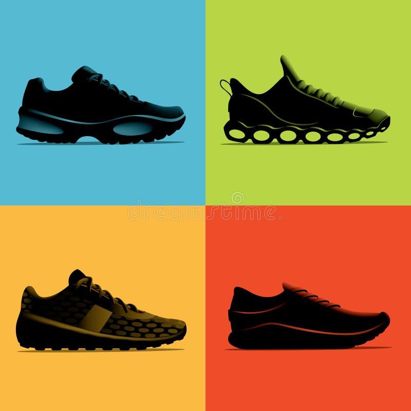 Scarpe atletiche 01 - illustrazione immagini stock libere da diritti