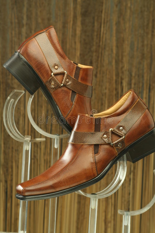 Scarpe convenzionali di cuoio fotografia stock
