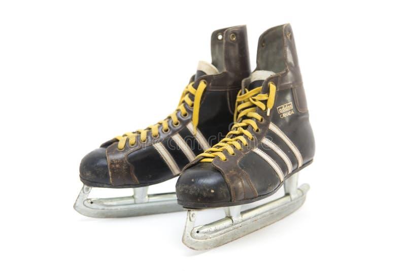 Scarpe d'annata del pattino di Adidas fotografia stock libera da diritti