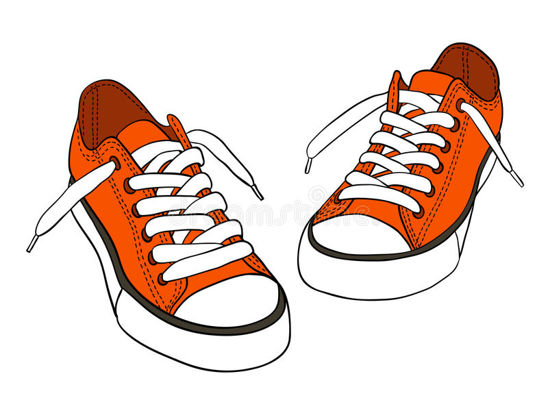 Scarpe da tennis royalty illustrazione gratis