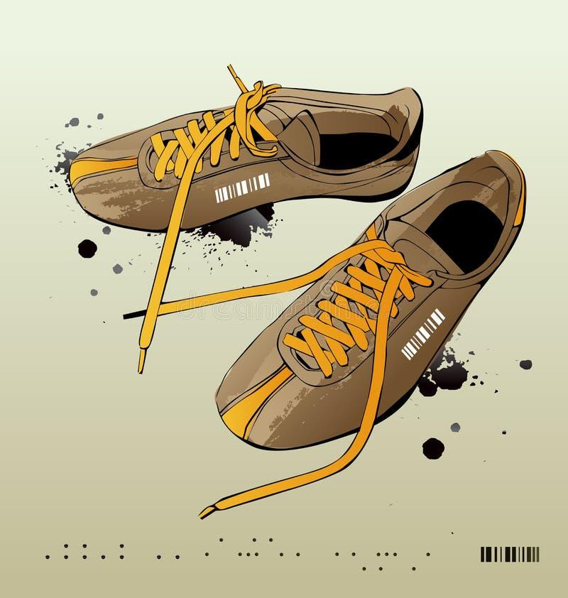 Scarpe da tennis di vettore, ginnastica-pattini illustrazione vettoriale