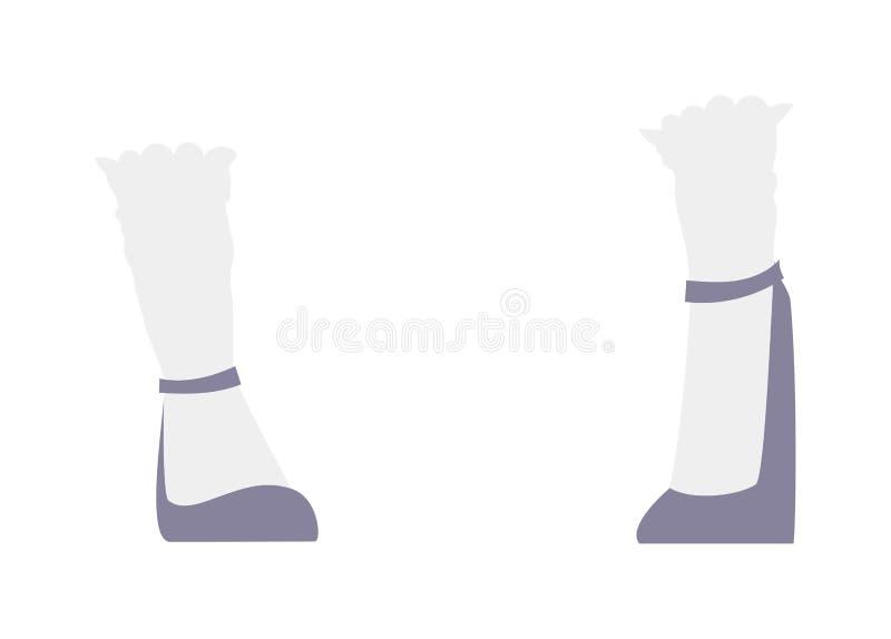 Scarpe dei tacchi alti delle donne le belle adattano a fumetto delle calzature di stile il vettore piano royalty illustrazione gratis