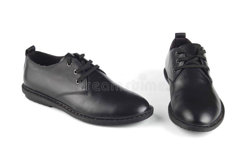 Scarpe di cuoio di colore nero fotografia stock