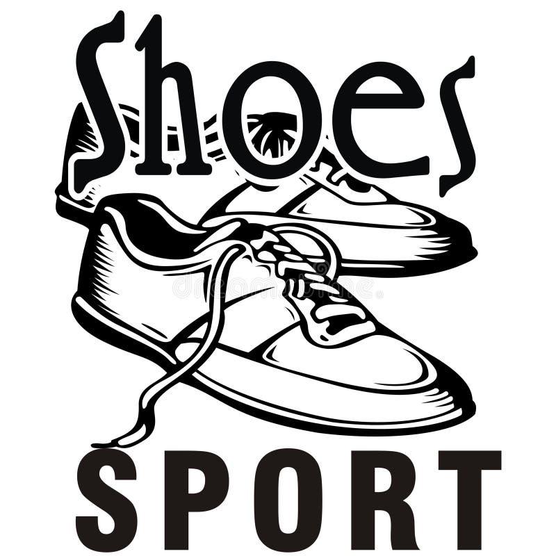 Scarpe di progettazione dell'illustrazione dello sport per incontrarvi fotografia stock