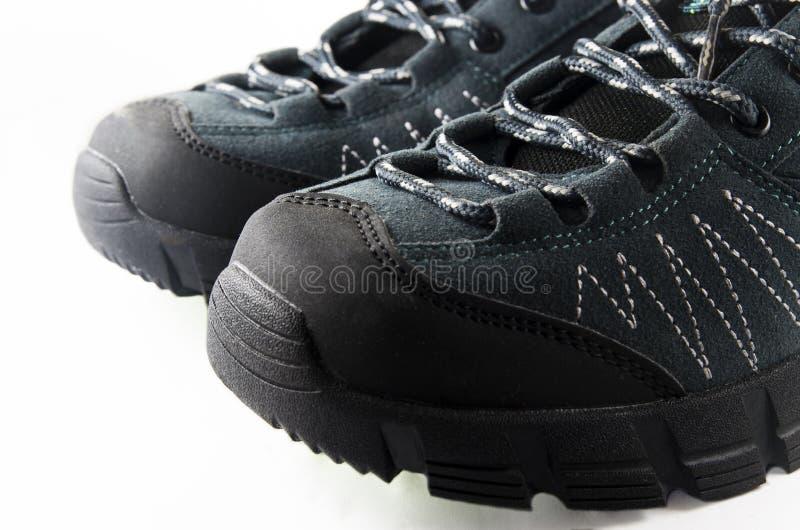 Scarpe di trekking dei calzini fotografia stock libera da diritti