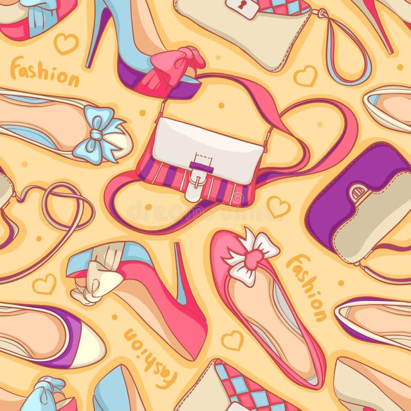 Scarpe e borse illustrazione vettoriale