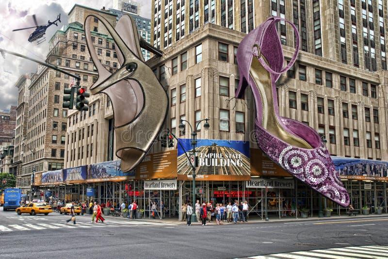 Scarpe massicce a New York fotografie stock