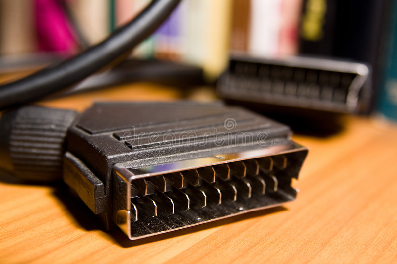 Scart video cable stock photo