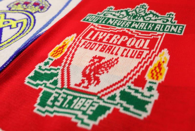 Scarver con il logo del FC Liverpool immagini stock libere da diritti
