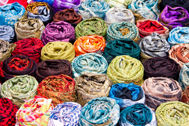 Download Scarves stock image. Image of sale, textile, shopping - 14861919