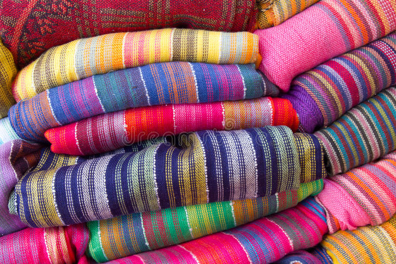 Scarves coloridos imagem de stock