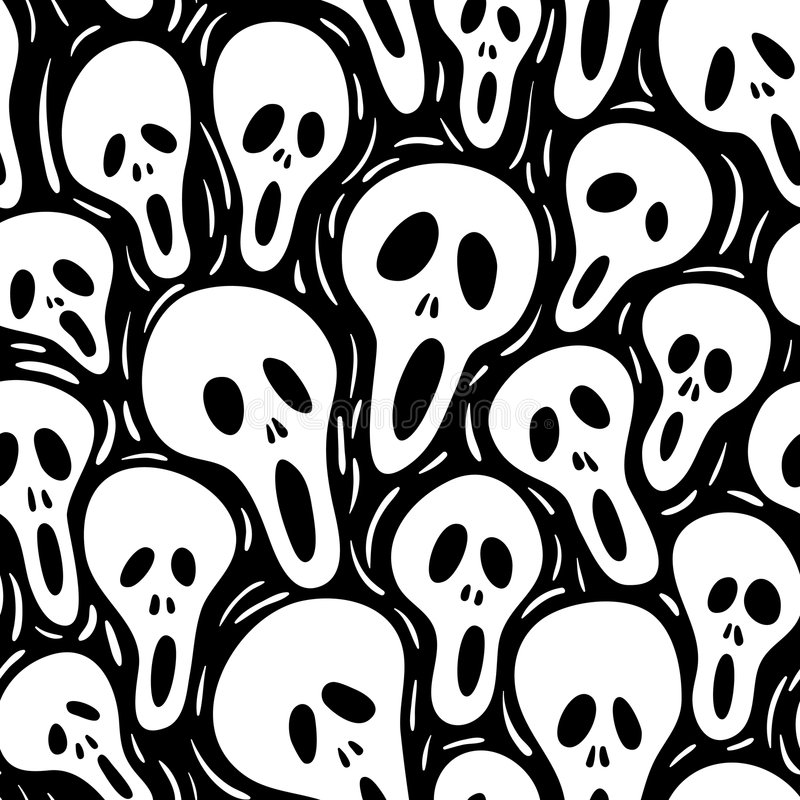 scary άνευ ραφής διάνυσμα wallpap απεικόνιση αποθεμάτων