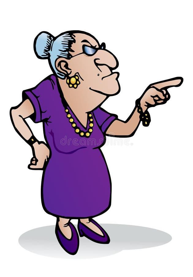 Scary γιαγιά απεικόνιση αποθεμάτων