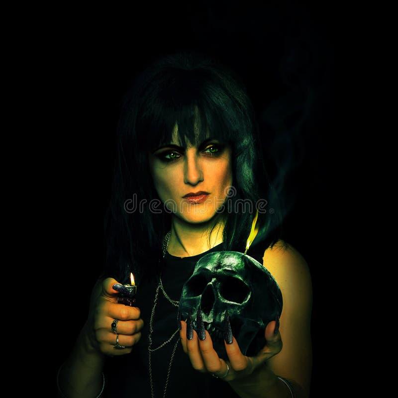 scary γυναίκα στοκ φωτογραφία με δικαίωμα ελεύθερης χρήσης