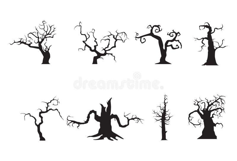 scary δέντρα αποκριών ελεύθερη απεικόνιση δικαιώματος