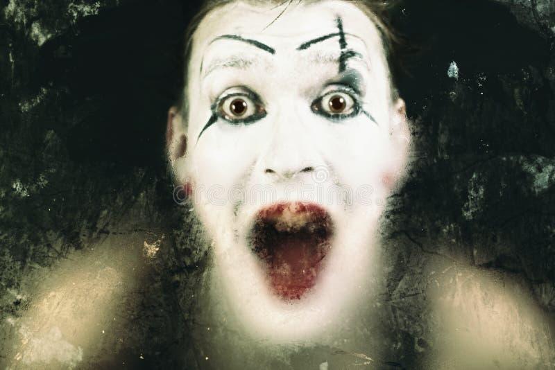 scary κραυγή προσώπου mime στοκ εικόνες