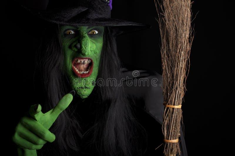 Scary μάγισσα. στοκ φωτογραφίες