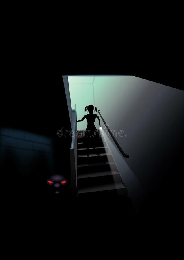 Scary υπόγειο διανυσματική απεικόνιση