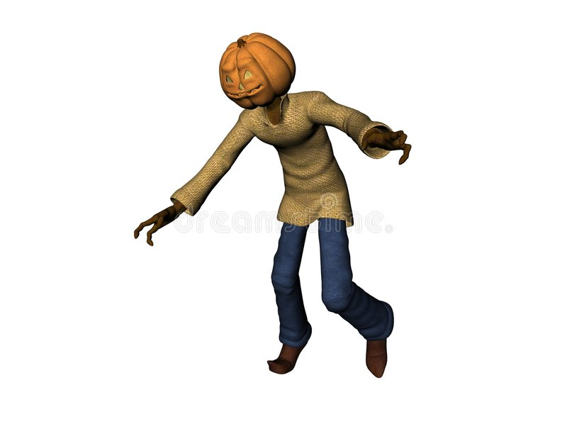 Download Scary 3D pumpkin head man stock illustration. Image of dimension - 2936448
