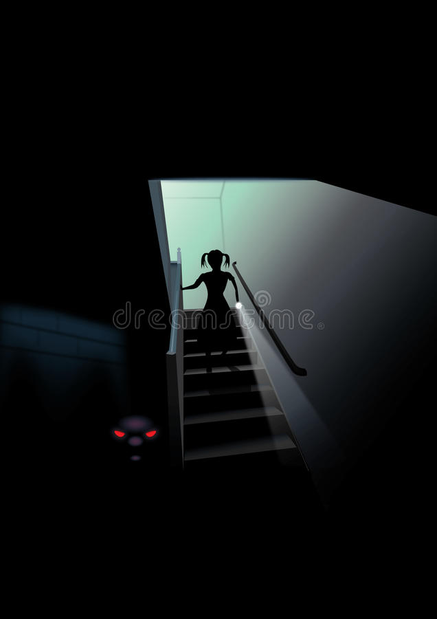 Scary Basement vector illustration