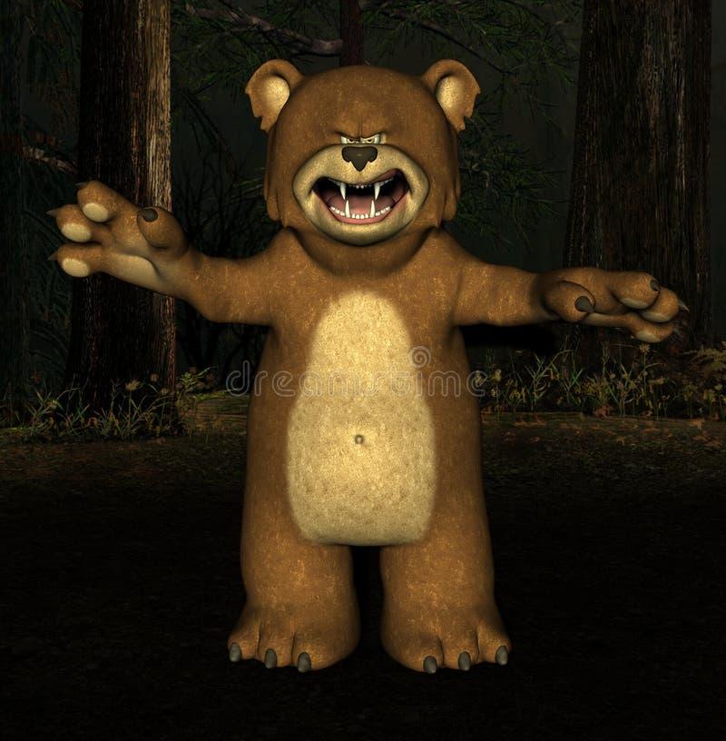 Scary bear stock illustration. Illustration of fluffy - 2671677