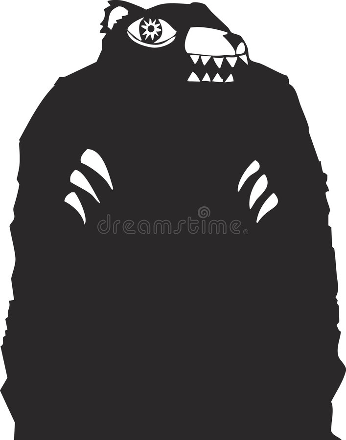Scary Bear Stock Vector Illustration Of Hunt Forest