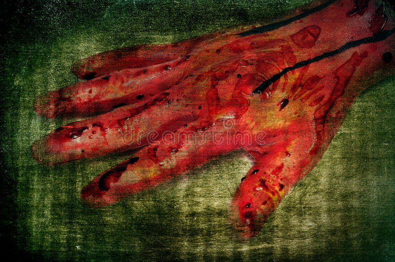 Download Scary bloody hand stock image. Image of dead, nails, hospital - 21455333