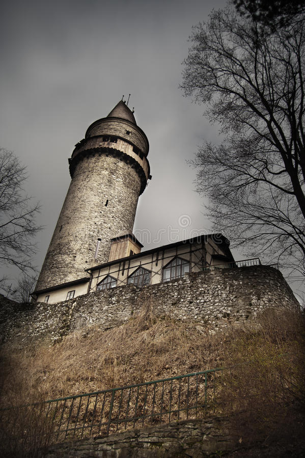 Scary castle tower. Photo of Scary castle tower stock images