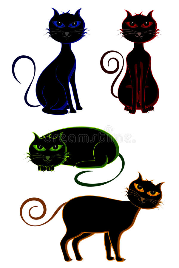 Download Scary Cat stock vector. Image of young, breed, white - 20628162