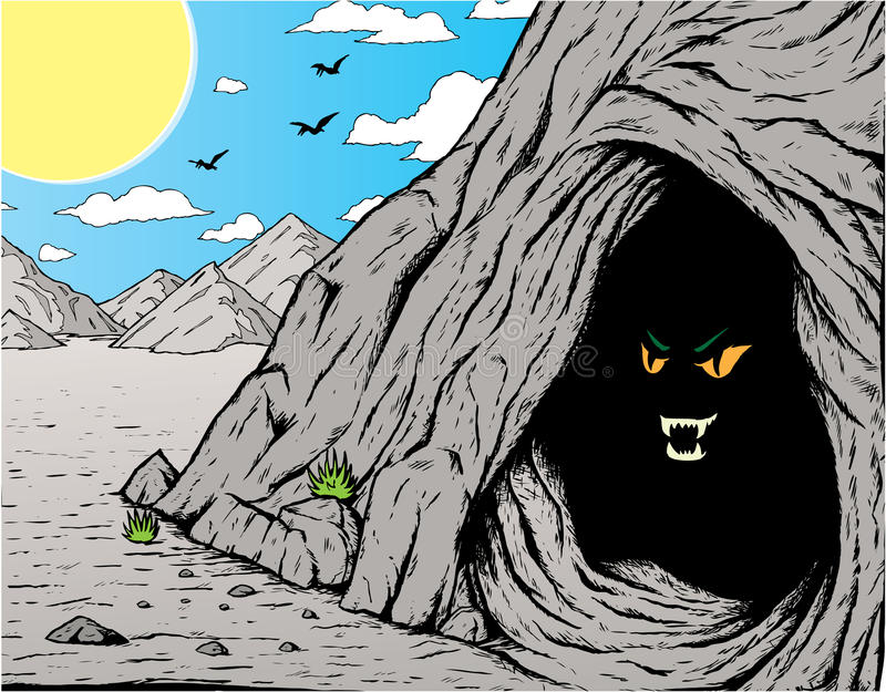 Scary Cave stock illustration