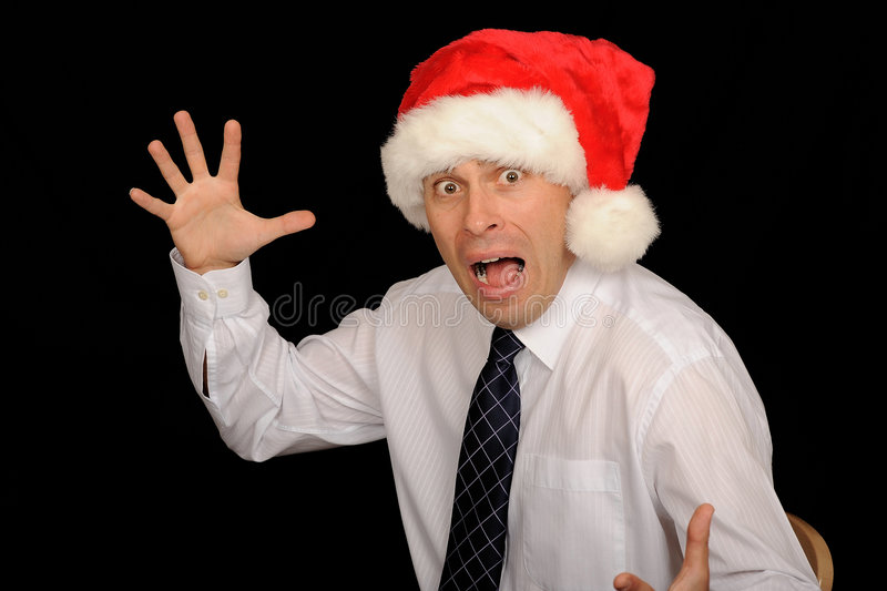 Download Scary Christmas Businessman Stock Image - Image: 6689505