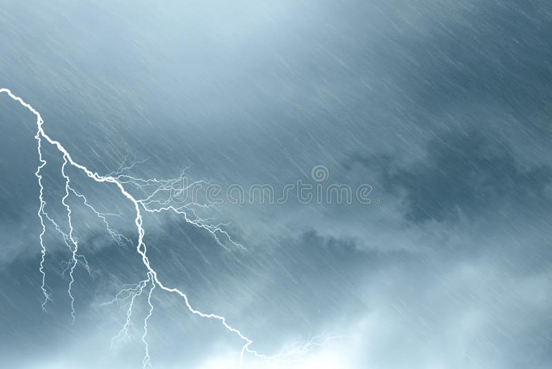 Scary clouds royalty free stock image